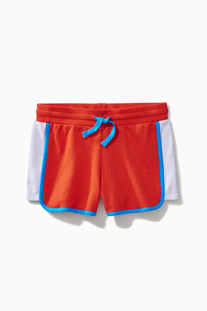 Color Block Dolphin Hem Short front