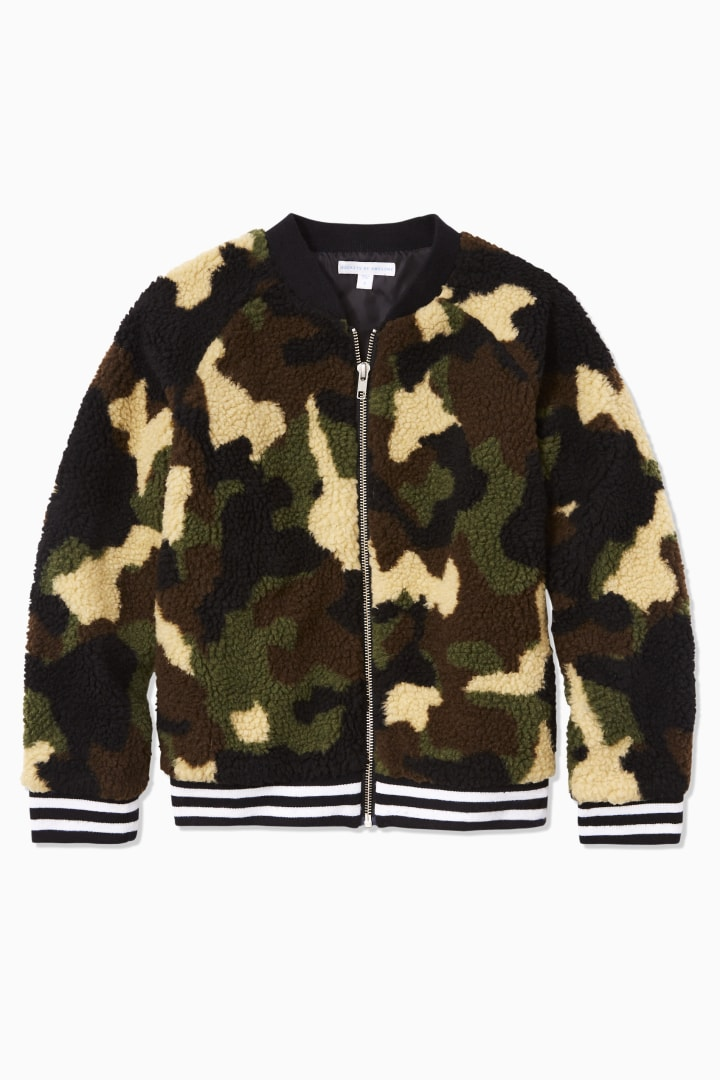 Camo Sherpa Bomber front