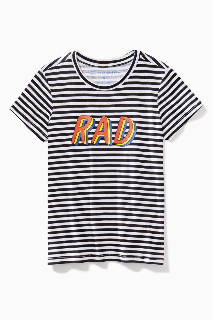 Striped Rad Tee front