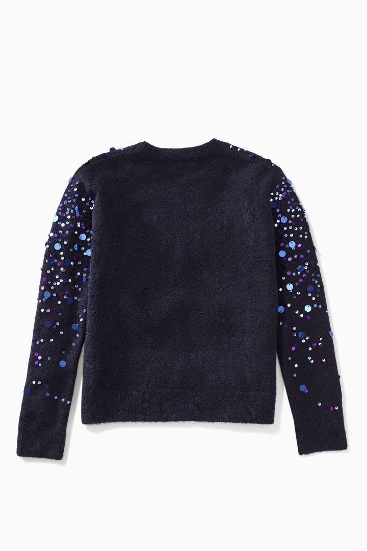 Paillette Sprinkle Sweater back