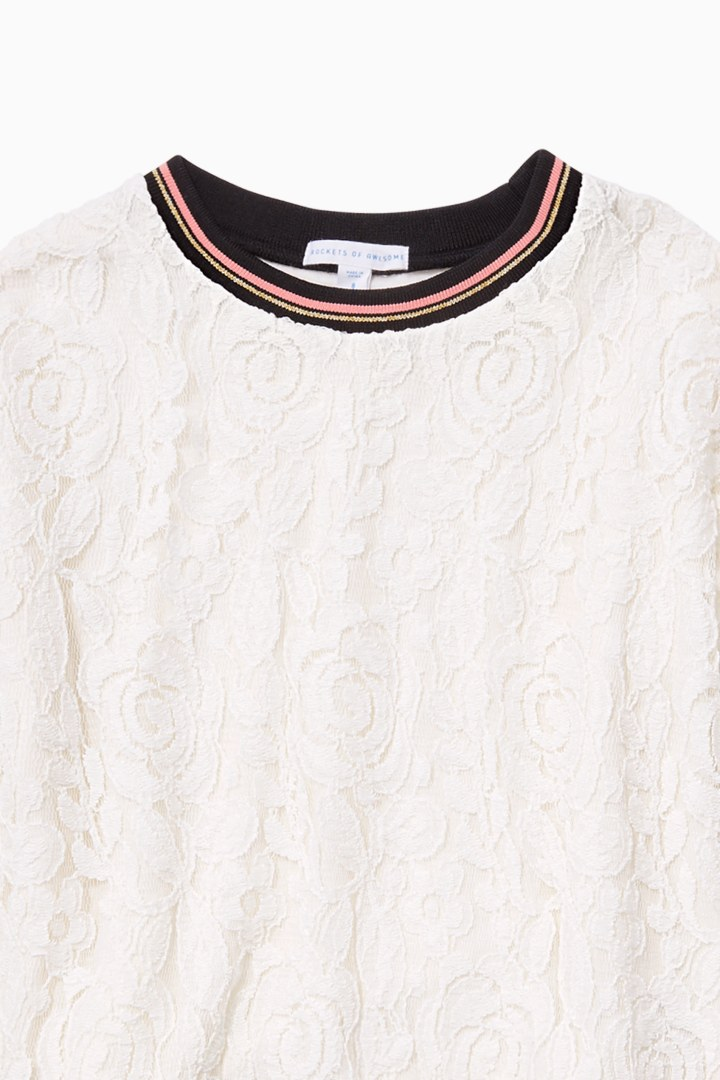 Varsity Lace Top detail