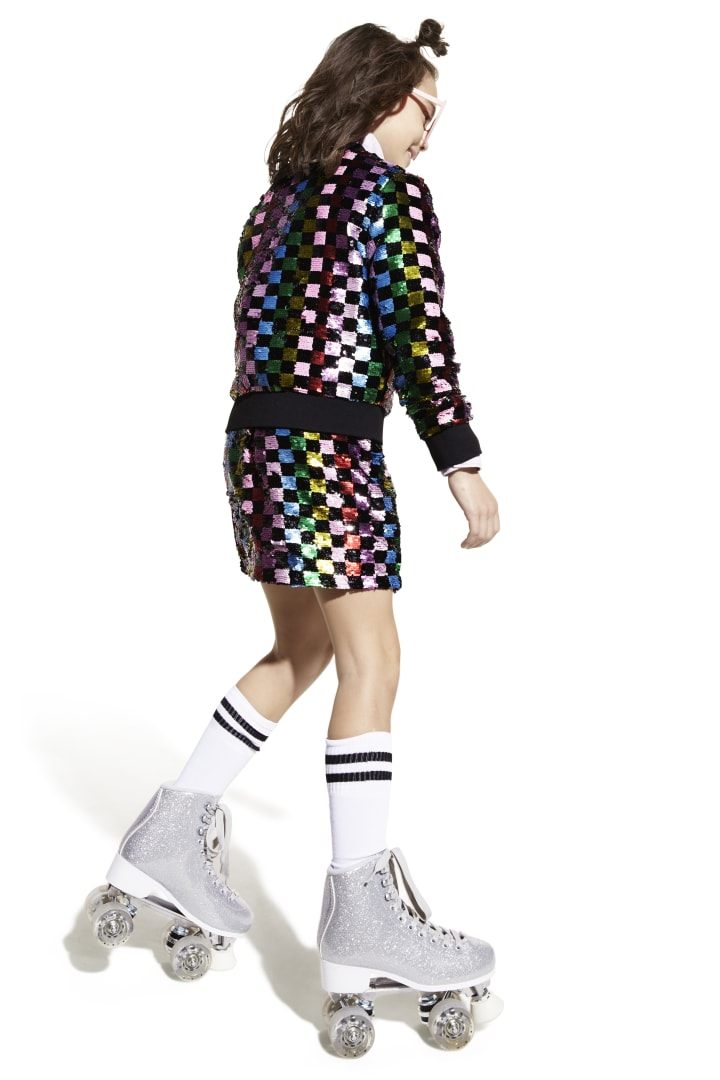 Rainbow Checker Sequin Bomber other