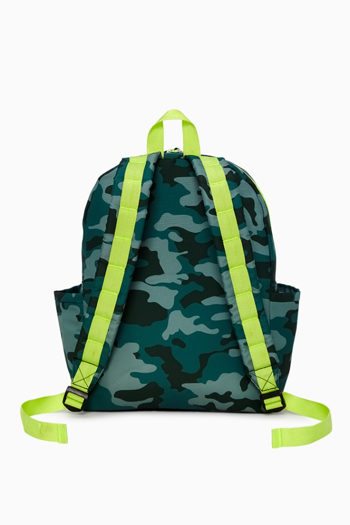 Rockets Of Awesome X State Backpack In Camo Neon back