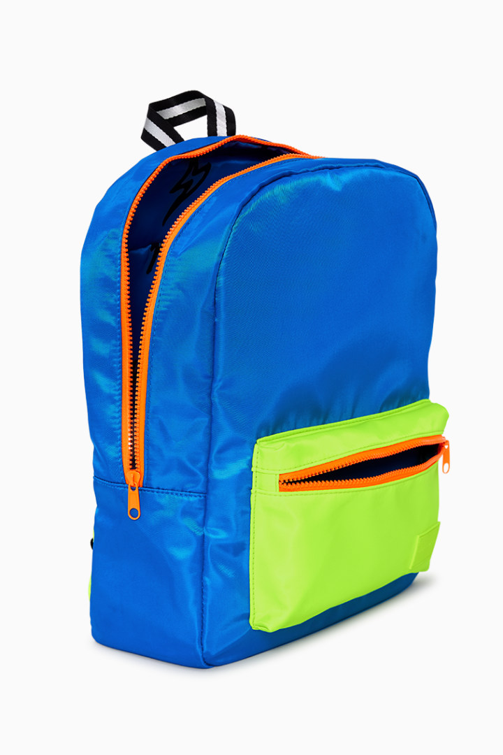 Neon Blue Backpack detail