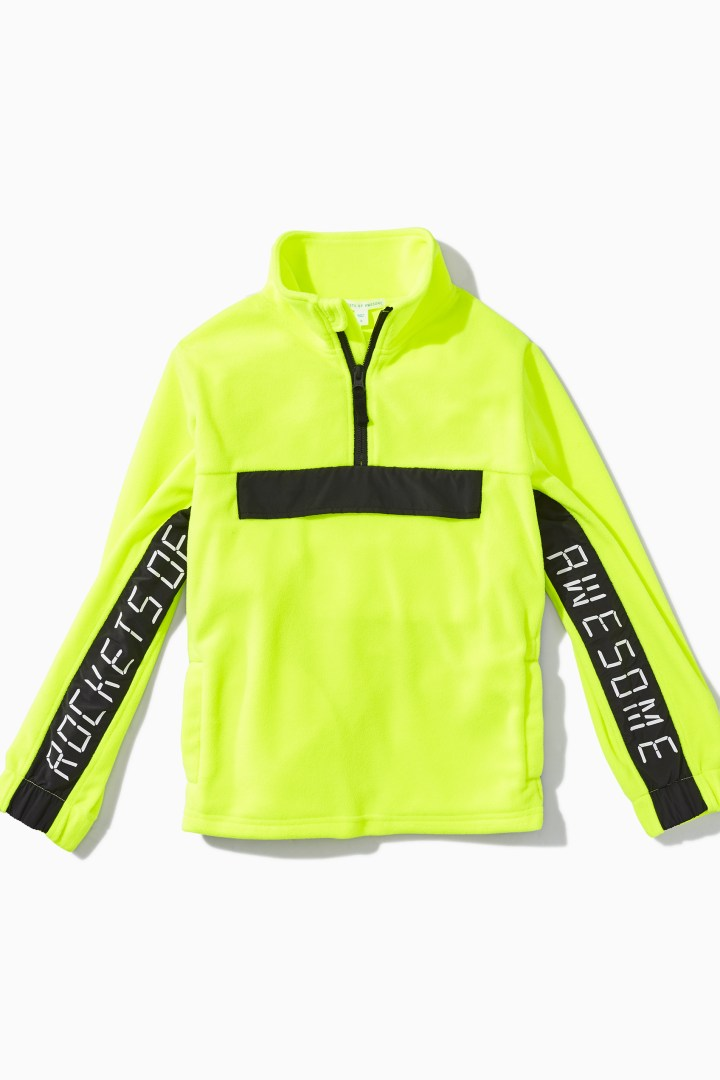 Highlighter Fleece Active Half-Zip detail