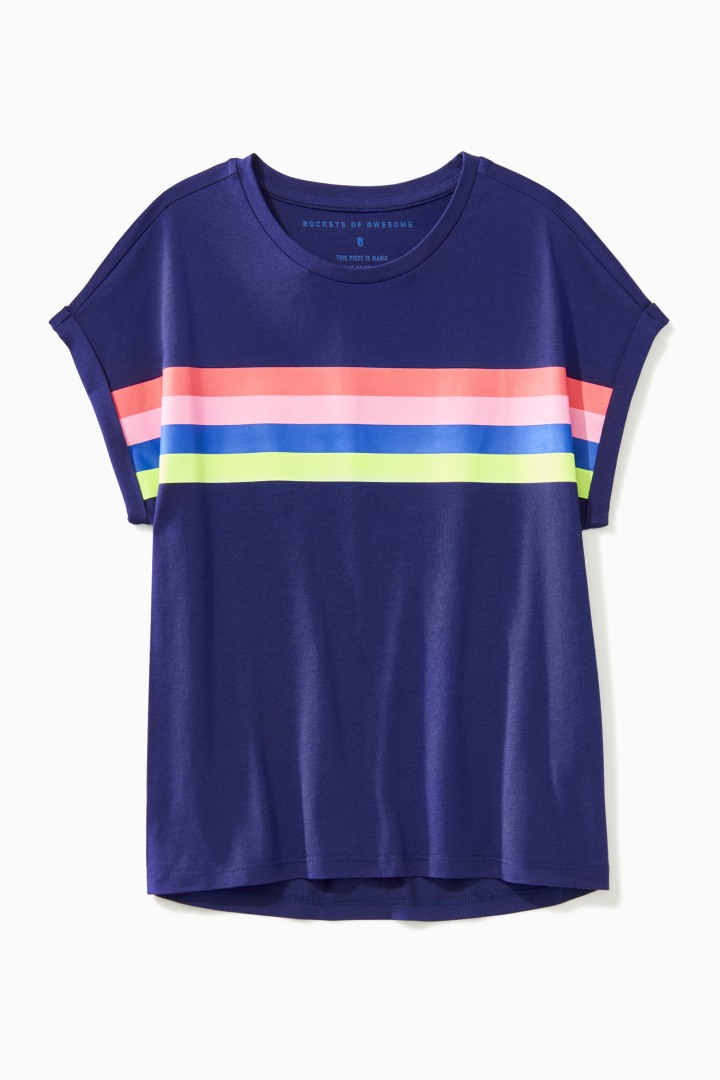 Boxy Rainbow Top front
