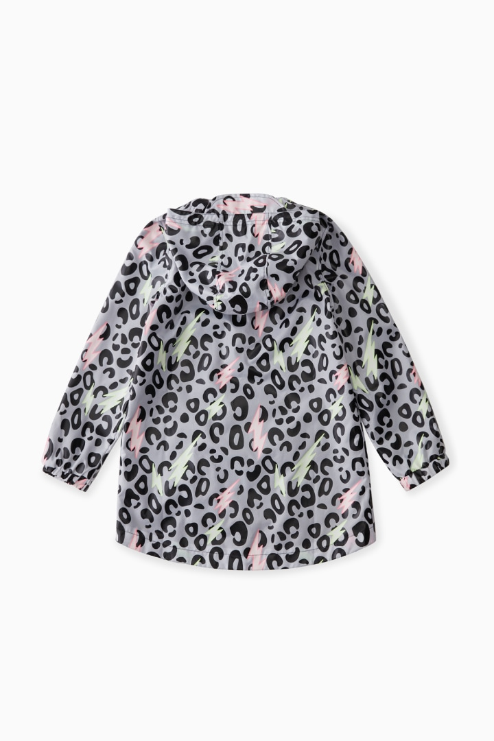 Color-Changing Raincoat In Leopard detail