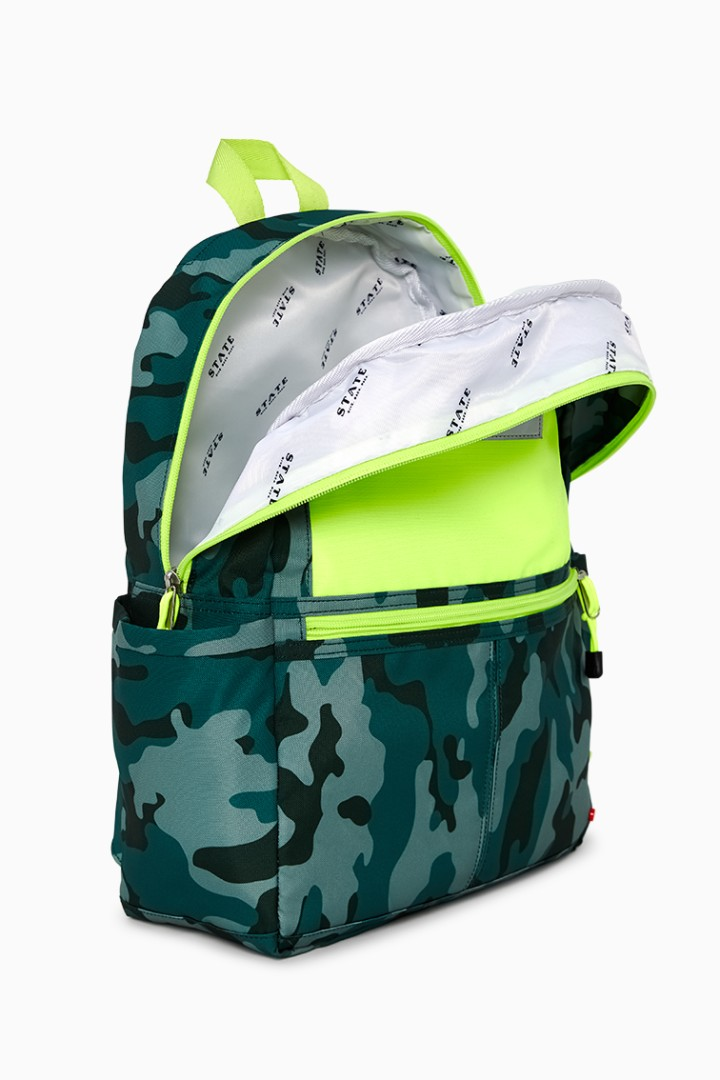 Rockets Of Awesome X State Backpack In Camo Neon other