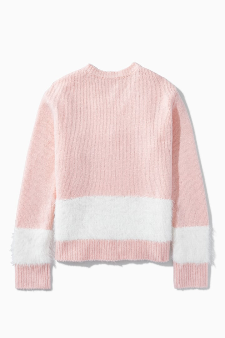 Eyelash Blocked Stripe Sweater back