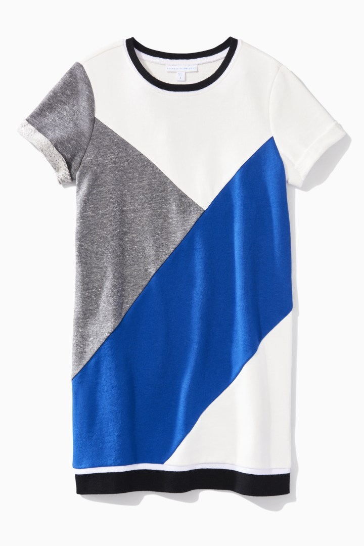 Colorblocked Varsity Dress front