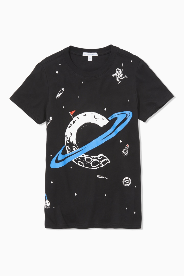 """C"" In Space Tee front"