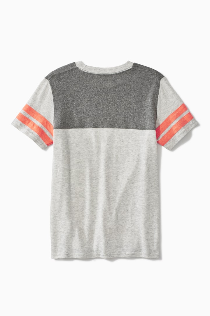 Colorblock Varsity Tee back