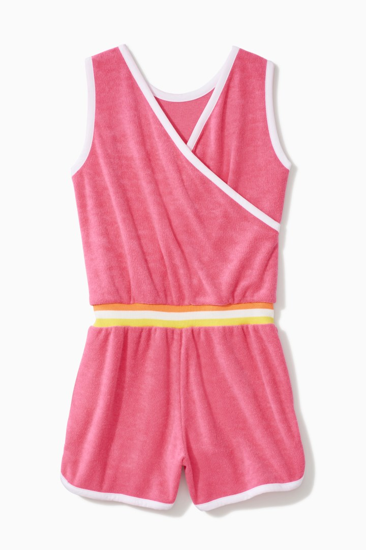 Towel Terry Track Romper back