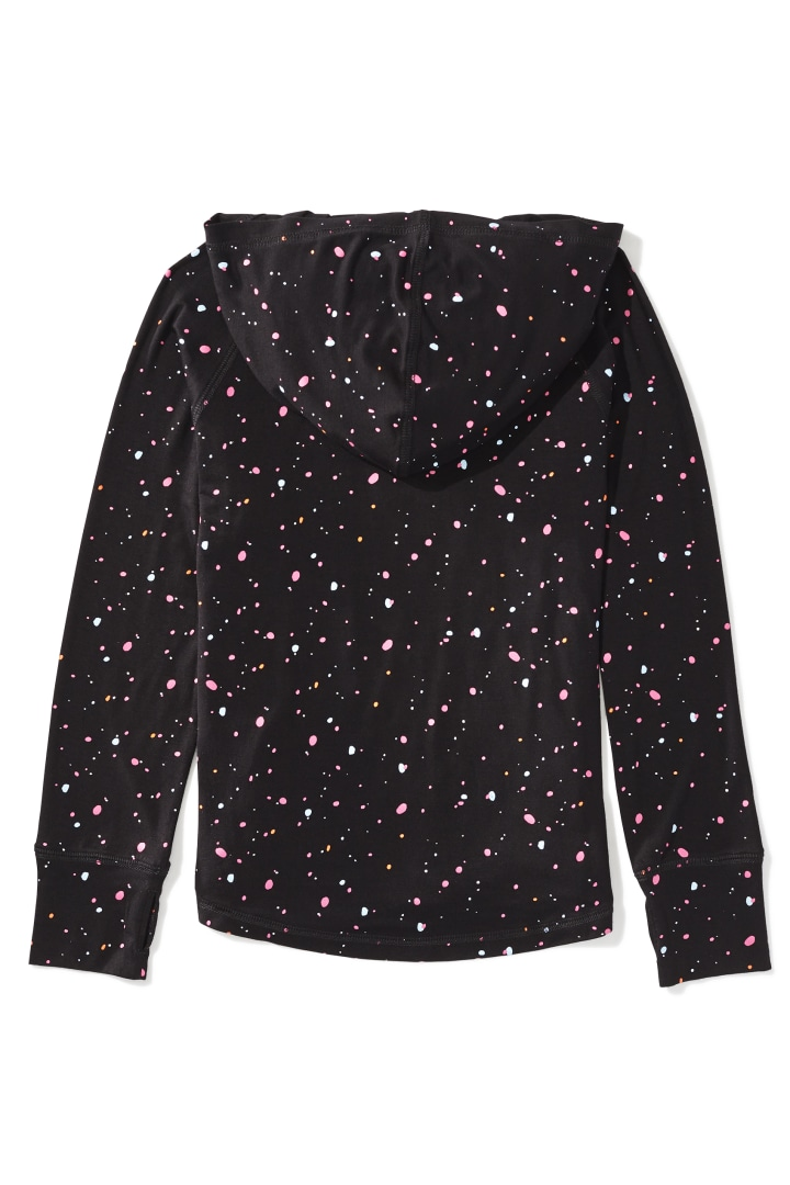 Glow-In-The-Dark Splatter Hoodie Tee back