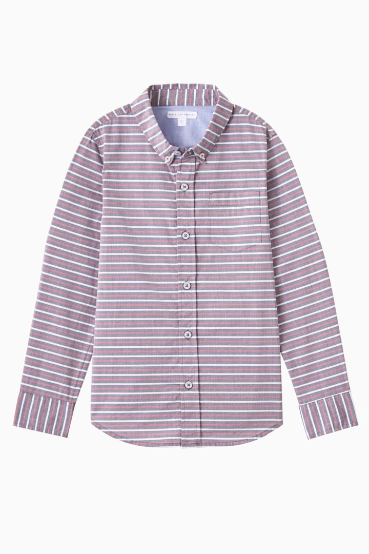 Stripe Button Down front