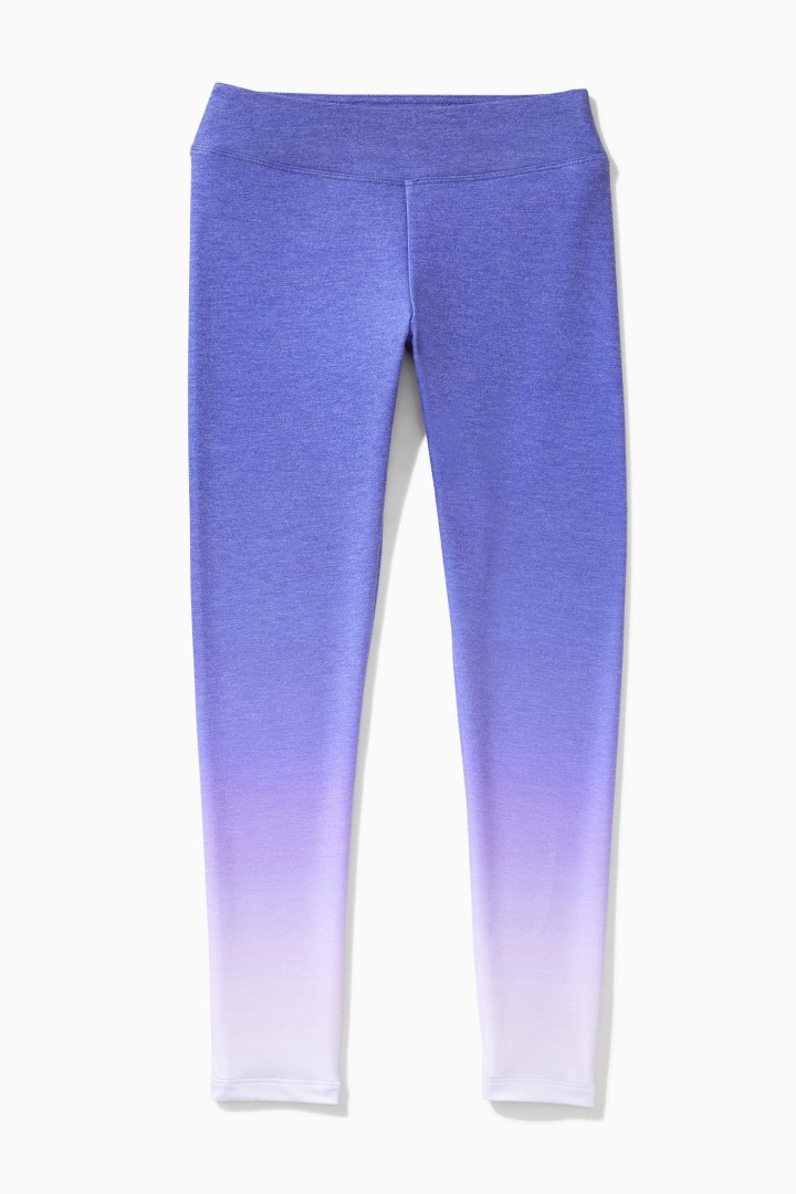 Supersoft Purple Ombre Legging front
