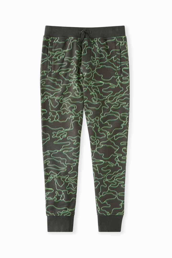 Linear Lime Camo Jogger front