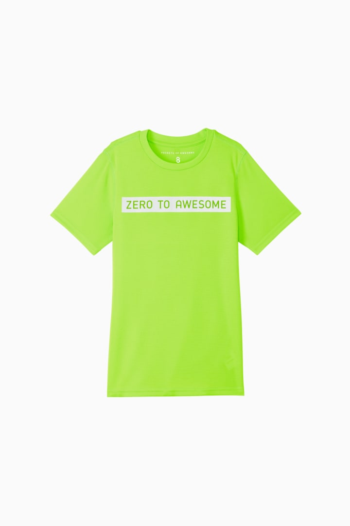 Zero To Awesome Active Tee front