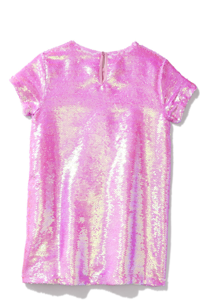 Party Pink Sequin Dress back