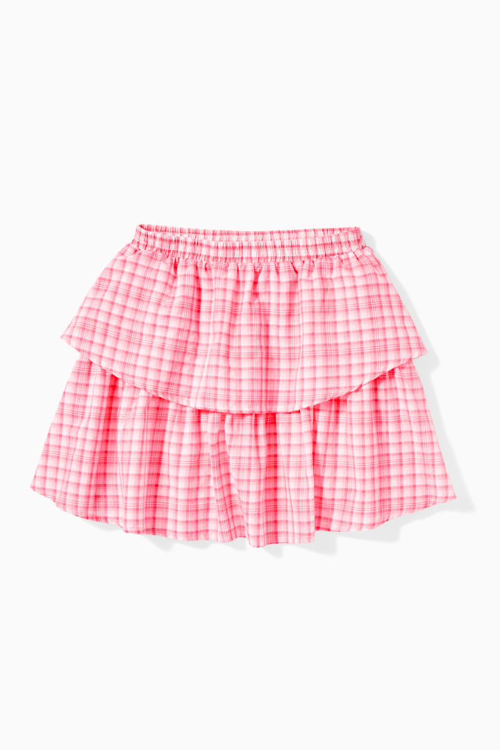 Neon Gingham Petal Skirt Main Image