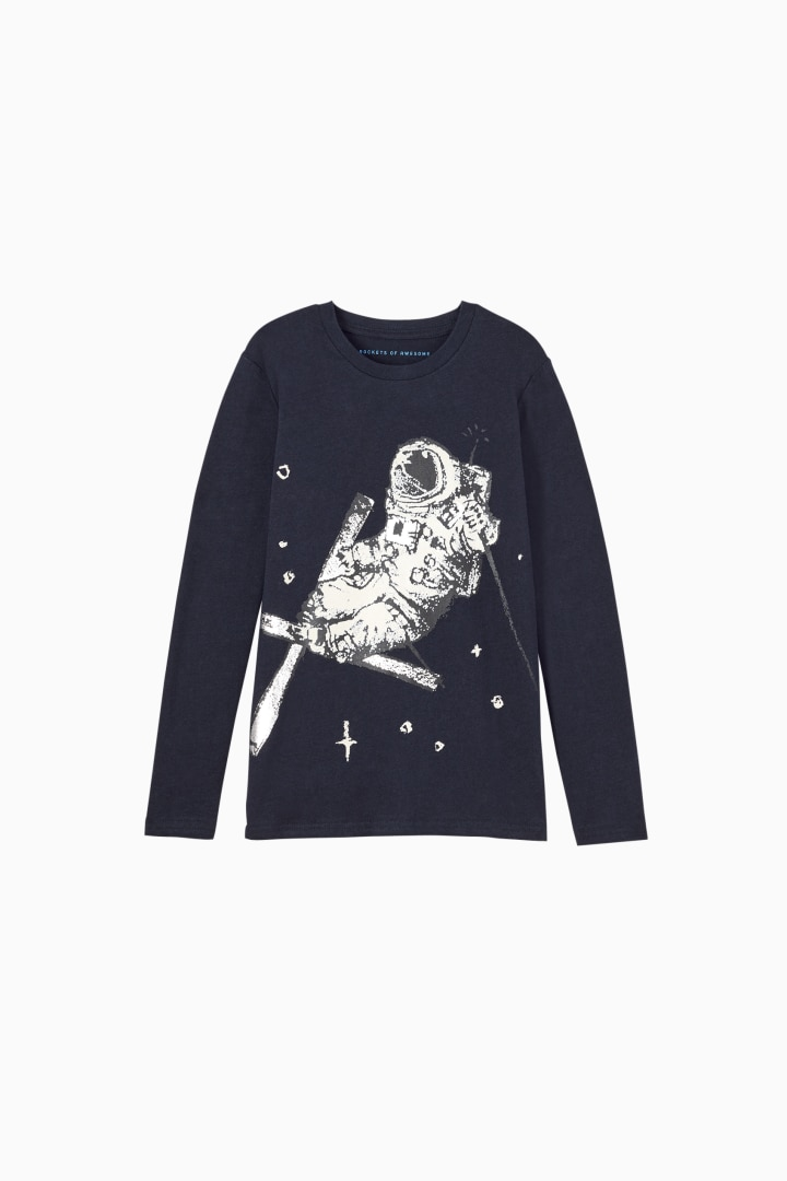 Space Skier Tee front