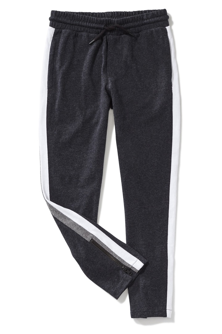 Double Stripe Ankle-Zip Jogger detail