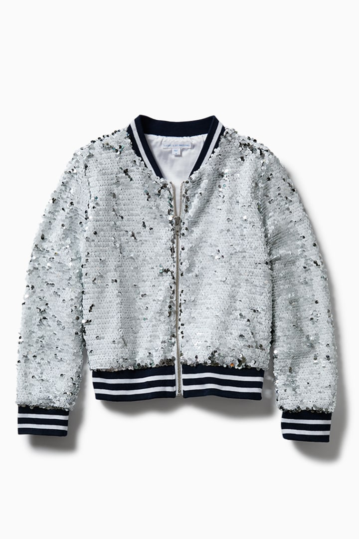 Sequin Bomber detail