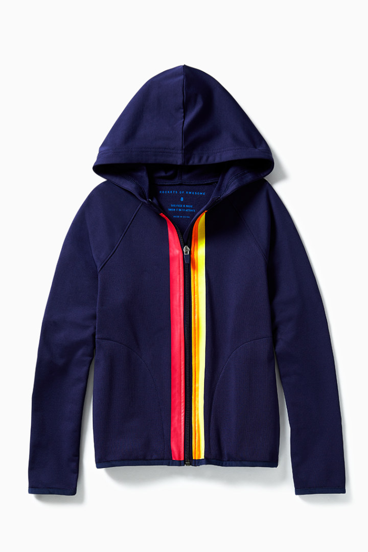 Sunset Rainbow Full Zip Active Hoodie front