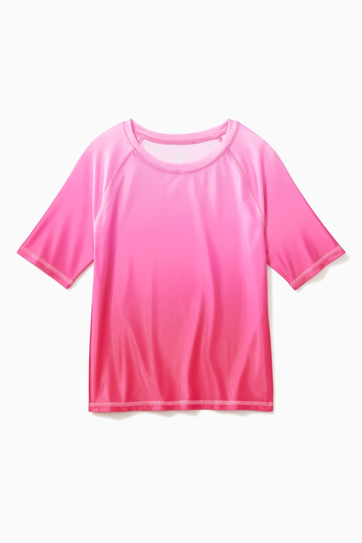 Ombre Short Sleeve Rash Guard front