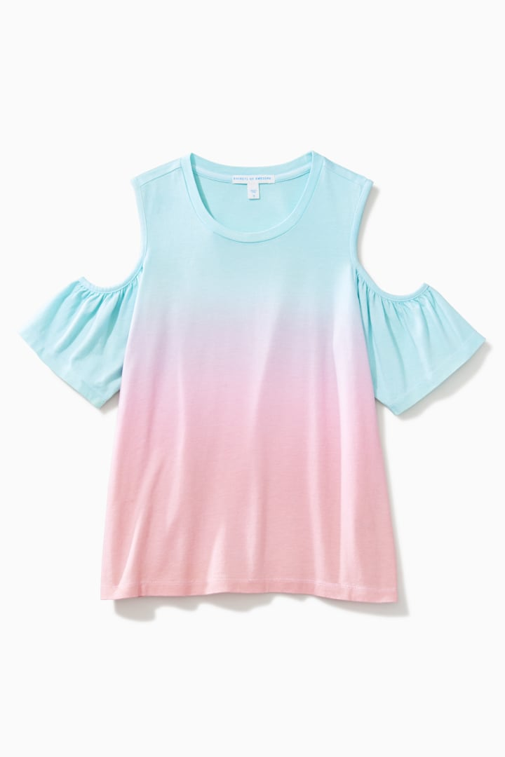 39bfe2eed37b5 Ombre Cold Shoulder Top - Rockets of Awesome