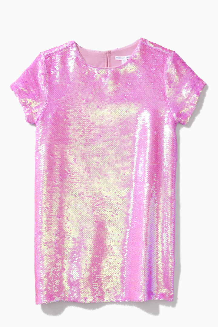 Party Pink Sequin Dress front