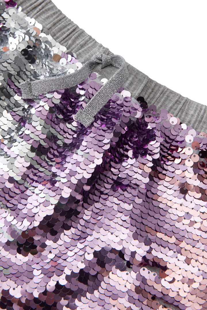 Ombre Shimmer Flip Sequin Skirt detail