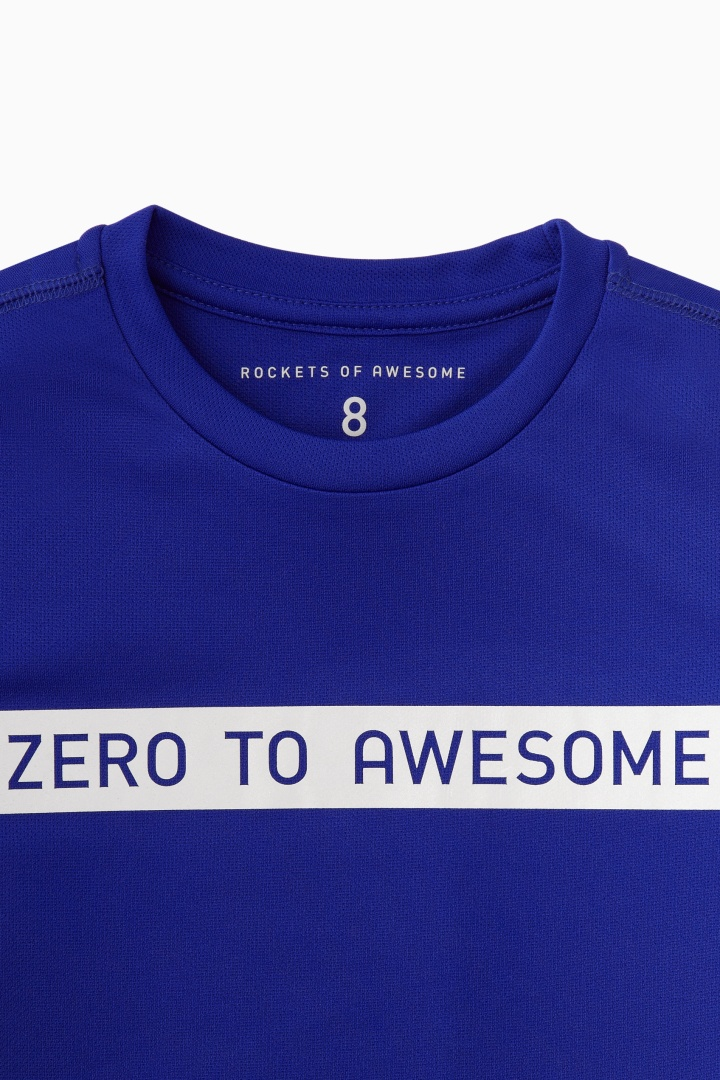 Zero To Awesome Active Tee detail