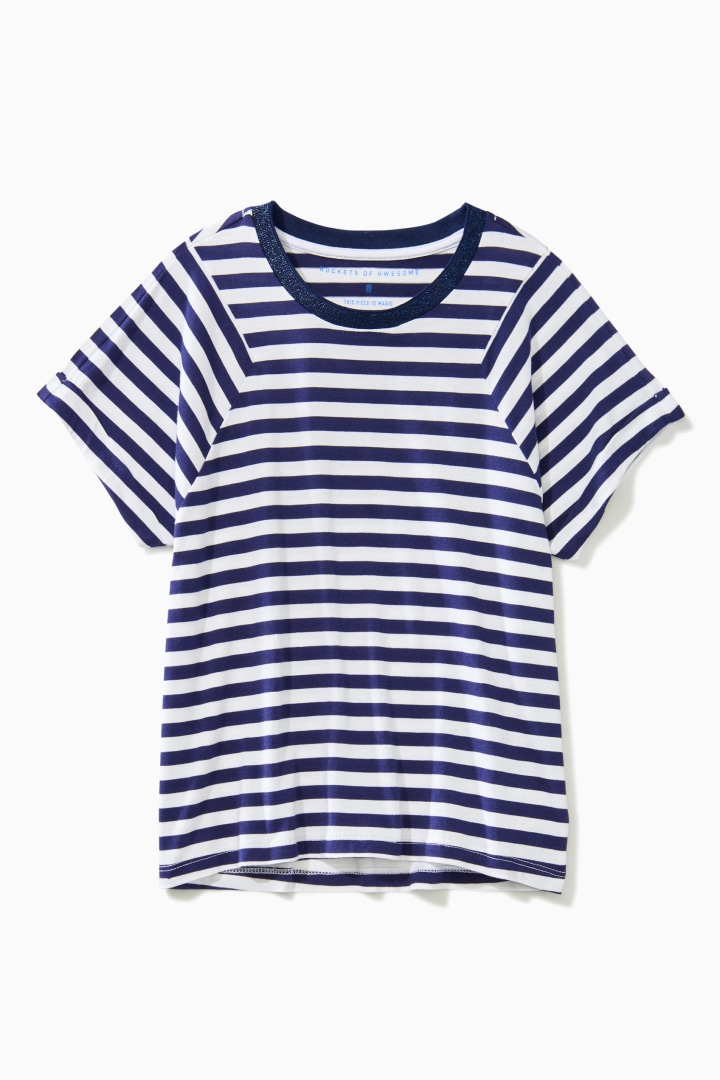 Stripe Block Tee front