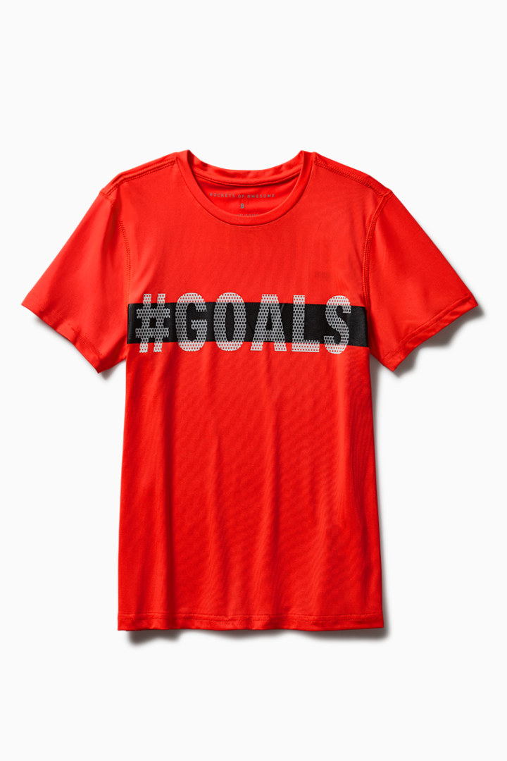Hashtag Goals Active Tee front