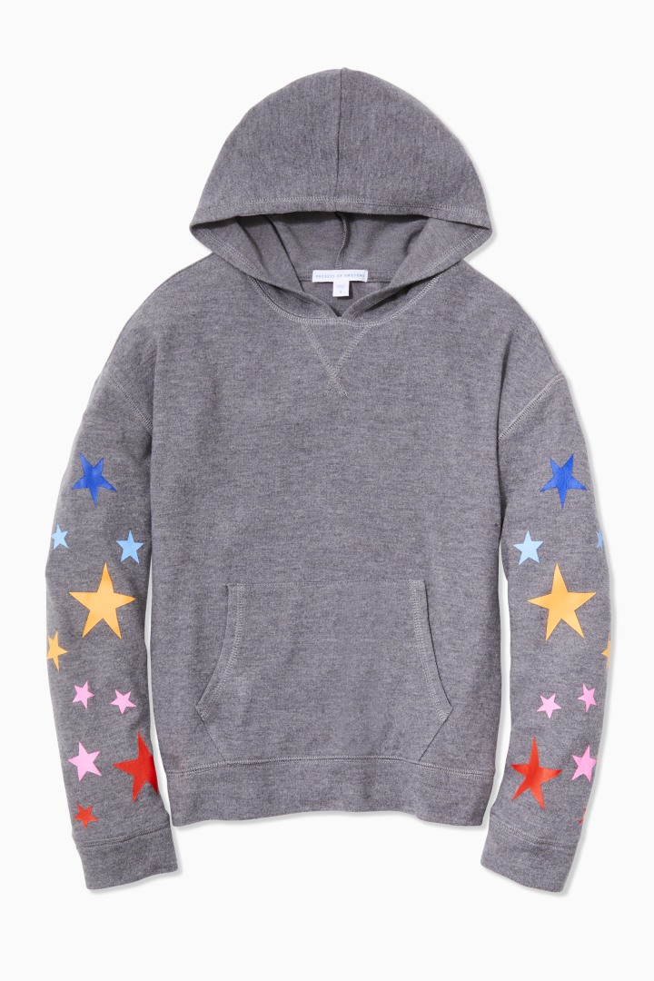 Comfy Rainbow Star Hoodie front