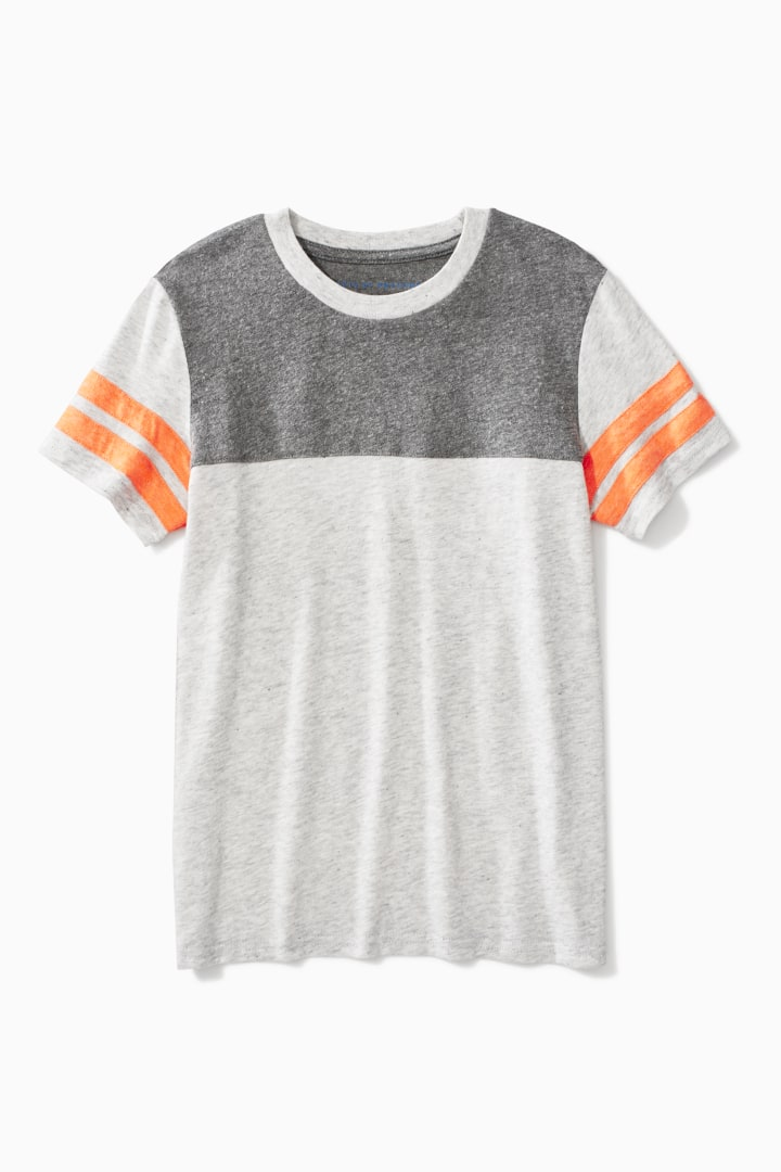 Colorblock Varsity Tee front