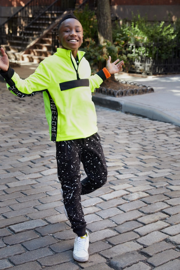 Glow-In-The-Dark Splatter Jogger on model