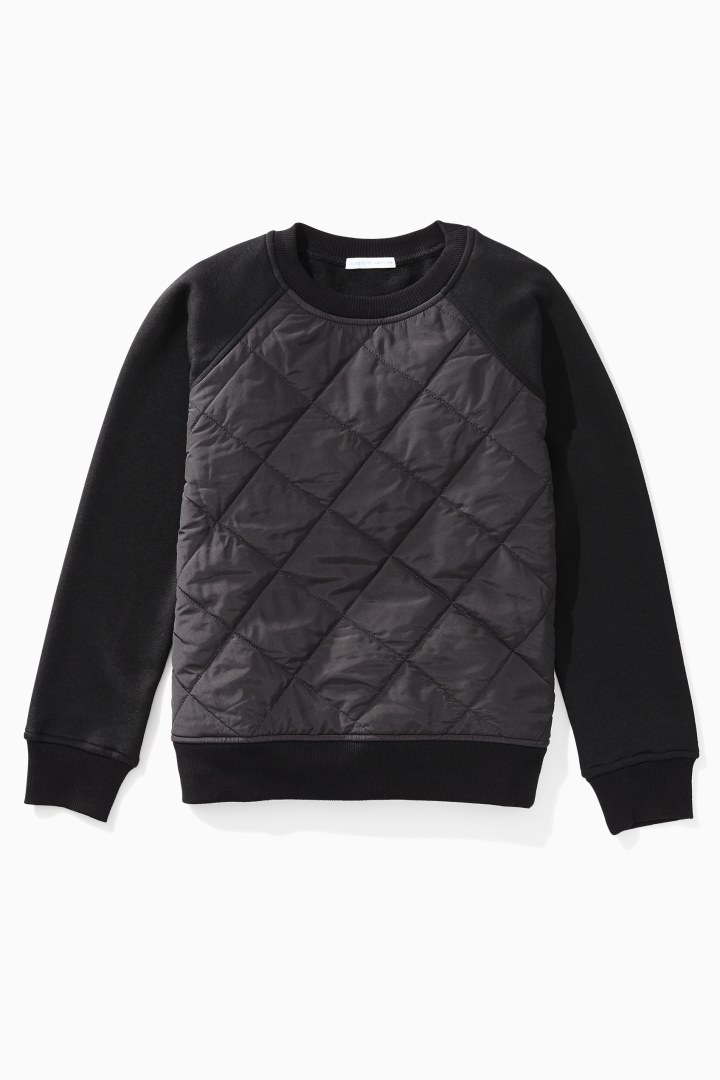 Quilted Cozy Sweatshirt front