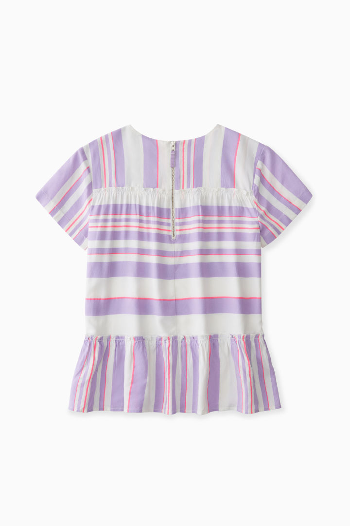 Mixed Stripe Tiered Blouse back