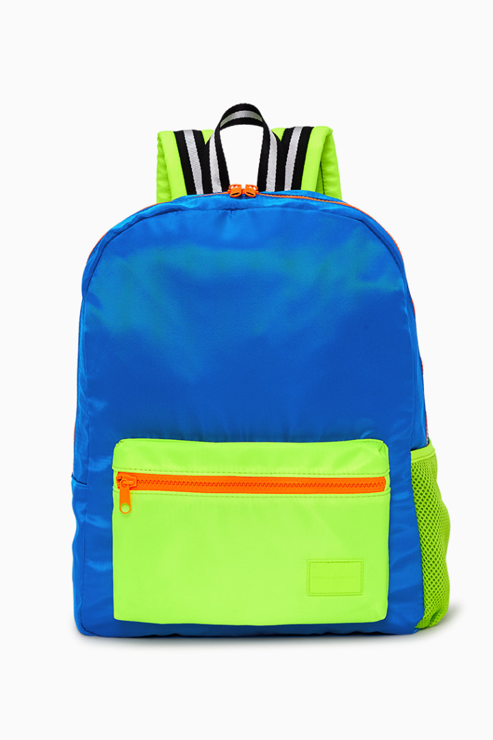 Neon Blue Backpack front
