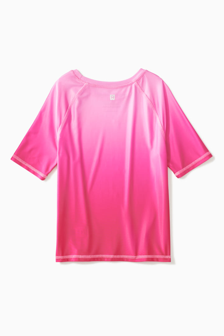 Ombre Short Sleeve Rash Guard back