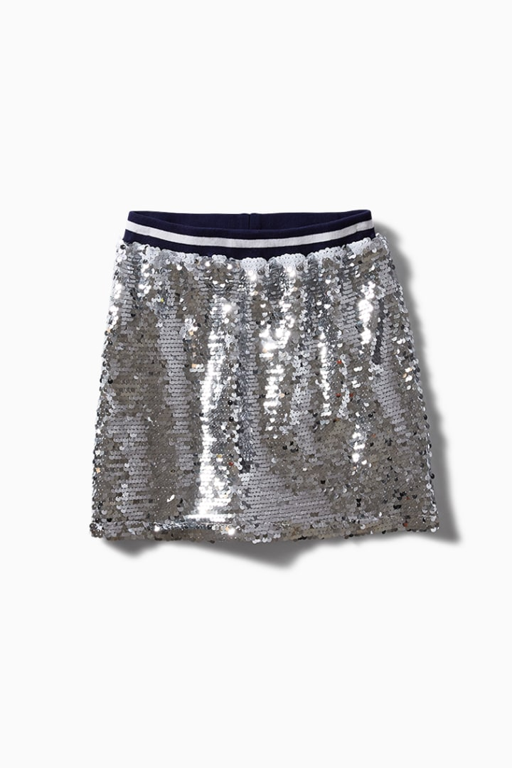 Varsity Sequin Skirt front