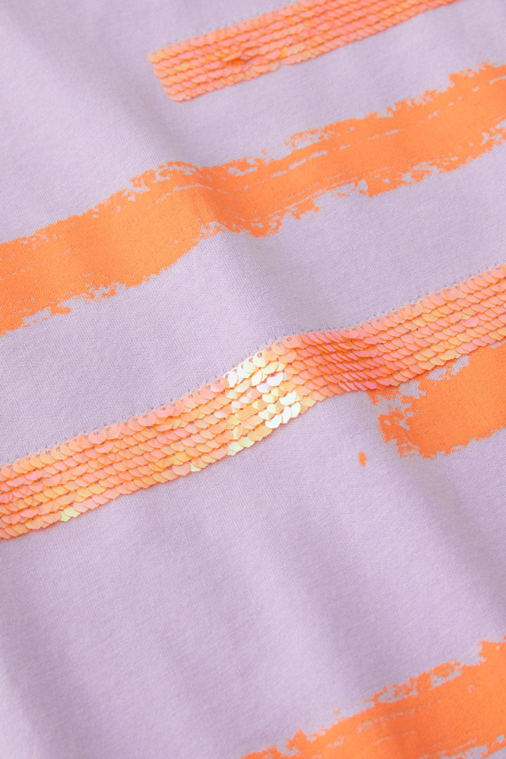 Brushed Sunset Sequin Tee detail