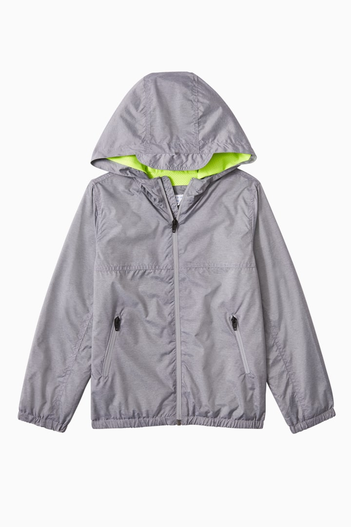 Neon-Mesh Lined Windbreaker front