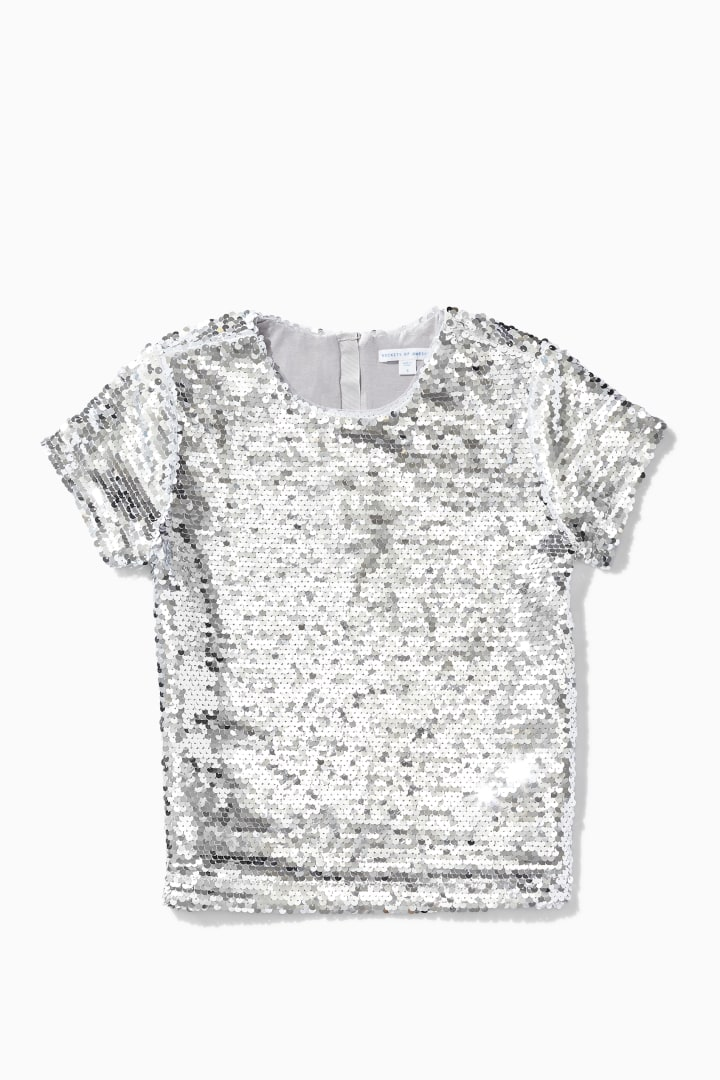 Flip Sequin Top front