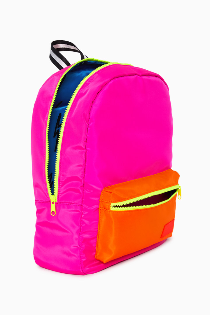 Neon Pink Backpack detail