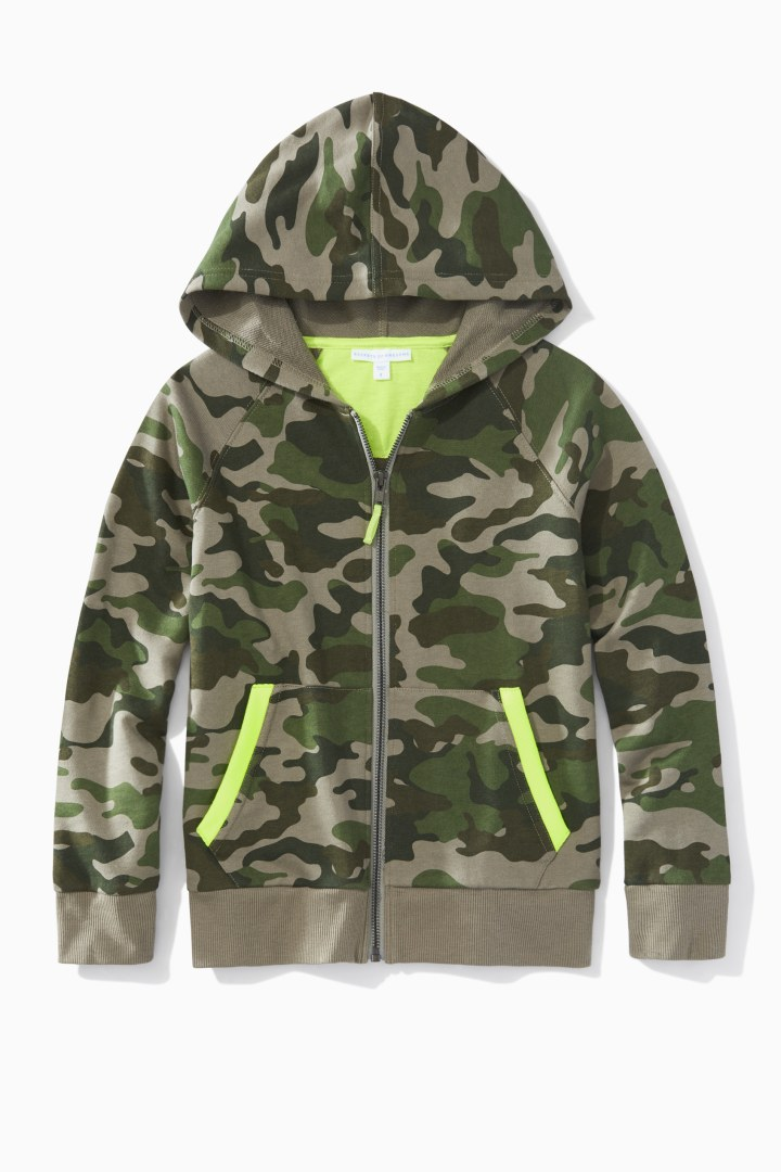 Camo Full-Zip Sweatshirt front