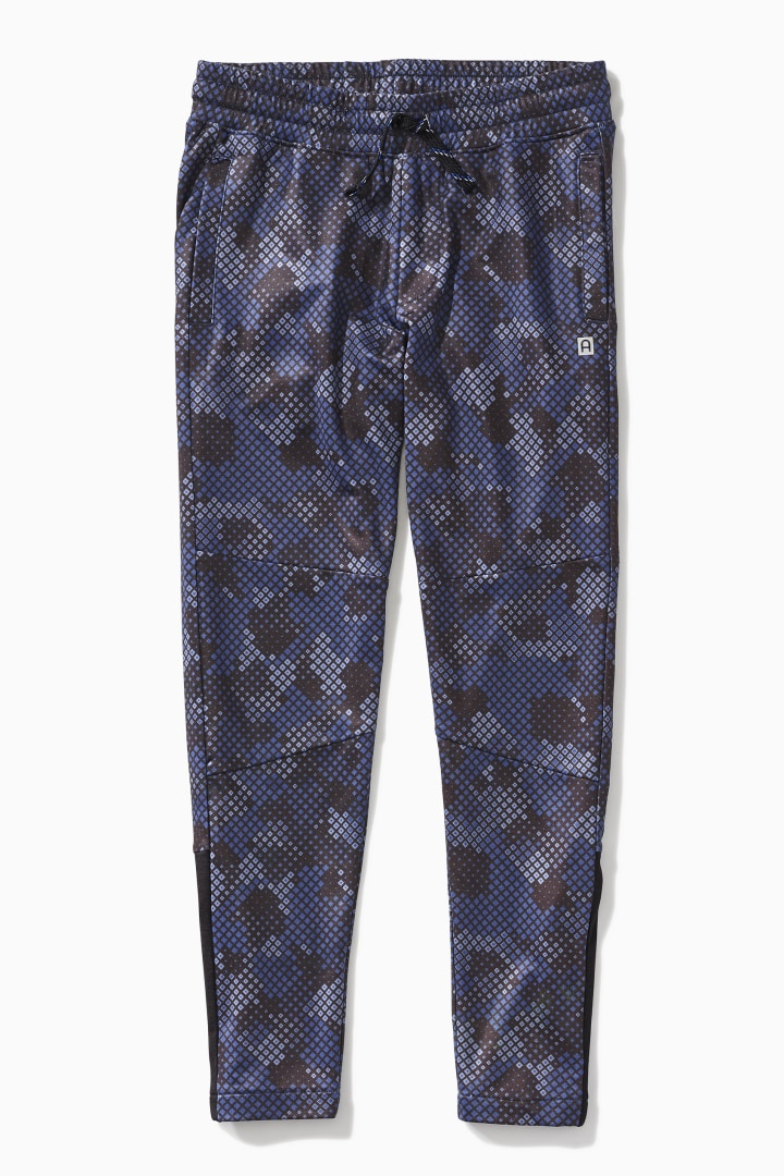 Geo Camo Ankle-Zip Active Jogger front