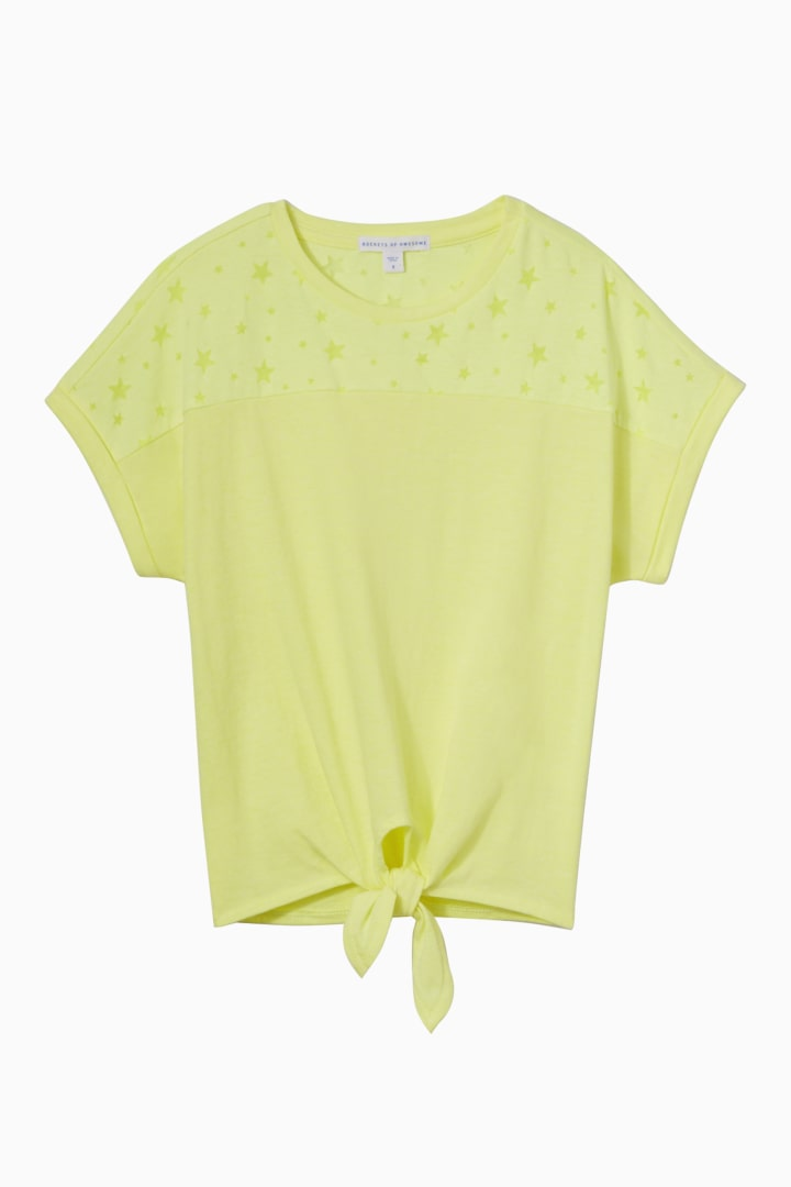Neon Star Burn-Out Top front